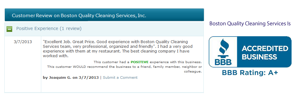 Office Cleaning Services Real Testimonials
